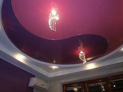 Фигурные натяжные потолки