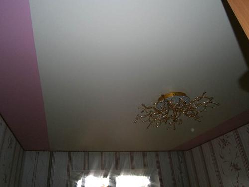 Матовые и сатиновые натяжные потолки